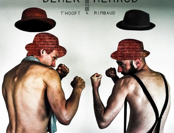 ontwerp CD-hoes Derek & Renaud vs T'Hooft & Rimbaud