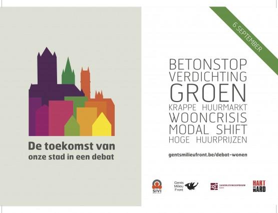 De toekomst van onze stad in een debat - 180x125mm - vr druk (donkere achtergond pagina)